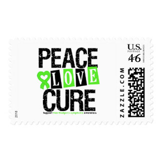 Non-Hodgkin s Lymphoma Peace Love Cure Stamps