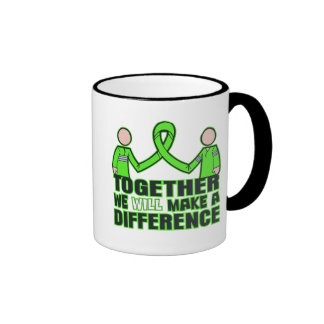 Non-Hodgkin's Lymphoma Together We Will Make A Dif Ringer Coffee Mug