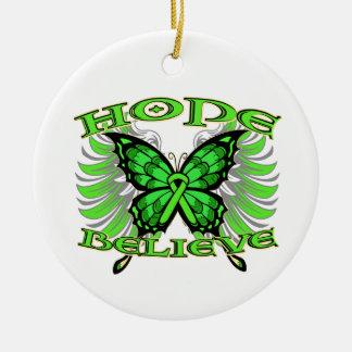 Non-Hodgkin sLymphoma Hope Believe Butterfly Ornament