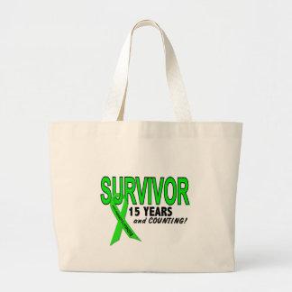 Non-Hodgkins Lymphoma 15 Year Survivor Jumbo Tote Bag