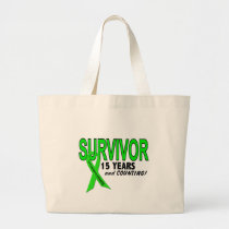 Non-Hodgkins Lymphoma 15 Year Survivor Large Tote Bag