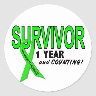 Non-Hodgkins Lymphoma 1 Year Survivor Classic Round Sticker