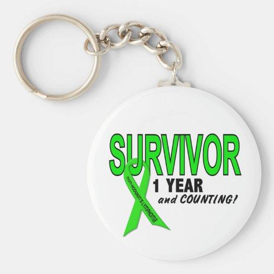 Non-Hodgkins Lymphoma 1 Year Survivor Keychain