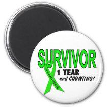 Non-Hodgkins Lymphoma 1 Year Survivor Magnet