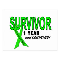 Non-Hodgkins Lymphoma 1 Year Survivor Postcard