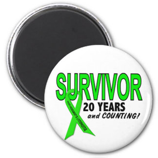 Non-Hodgkins Lymphoma 20 Year Survivor 2 Inch Round Magnet