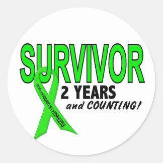 Non-Hodgkins Lymphoma 2 Year Survivor Round Sticker