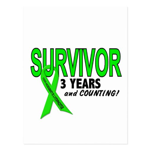 Non-Hodgkins Lymphoma 3 Year Survivor Postcard