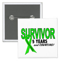Non-Hodgkins Lymphoma 5 Year Survivor Button