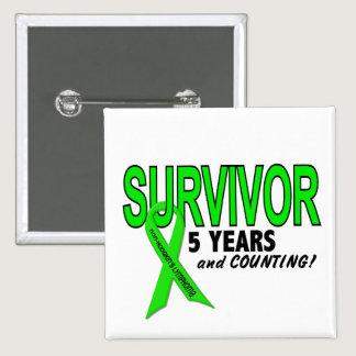 Non-Hodgkins Lymphoma 5 Year Survivor Button