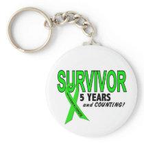 Non-Hodgkins Lymphoma 5 Year Survivor Keychain