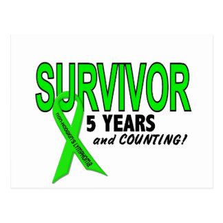 Non-Hodgkins Lymphoma 5 Year Survivor Postcard