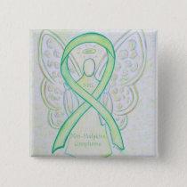 Non-Hodgkins Lymphoma Angel Lime Green Ribbon Pins