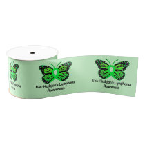 "Non-Hodgkin's Lymphoma Awareness Butterfly 3"" Grosgrain Ribbon"