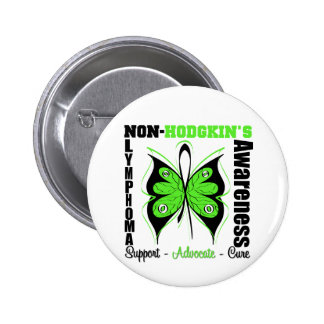 Non-Hodgkins Lymphoma  Awareness Butterfly 2 Inch Round Button