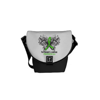 Non-Hodgkins Lymphoma Awareness Butterfly Courier Bags