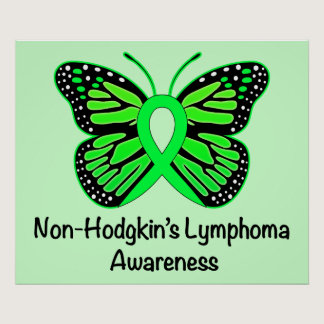Non-Hodgkin's Lymphoma Awareness: Butterfly Poster