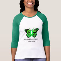 Non-Hodgkin's Lymphoma Awareness: Butterfly T-Shirt