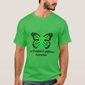 Non-Hodgkin's Lymphoma Awareness: Butterfly T-Shirt