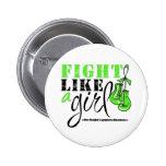Non-Hodgkin's Lymphoma Awareness Fight Like a Girl Pinback Buttons
