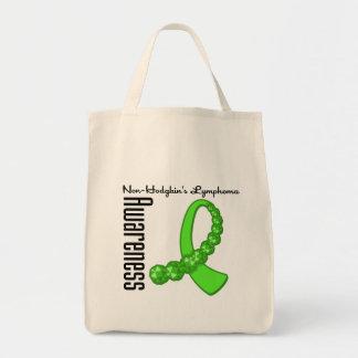 Non Hodgkins Lymphoma Awareness Gemstone Ribbon Grocery Tote Bag