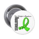 Non Hodgkins Lymphoma Awareness Gemstone Ribbon Pinback Buttons