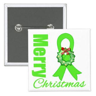 Non-Hodgkins Lymphoma Awareness Merry Christmas R Pinback Buttons