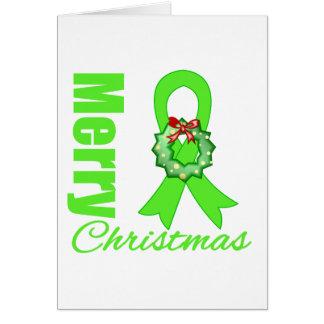Non-Hodgkins Lymphoma Awareness Merry Christmas R Card