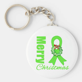 Non-Hodgkins Lymphoma Awareness Merry Christmas R Key Chain