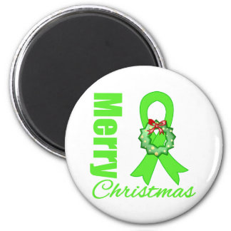 Non-Hodgkins Lymphoma Awareness Merry Christmas R Fridge Magnets