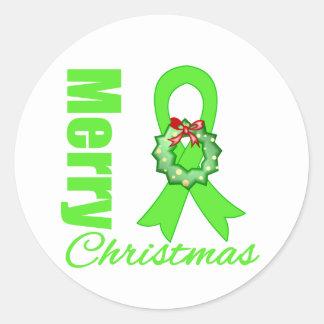 Non-Hodgkins Lymphoma Awareness Merry Christmas R Stickers