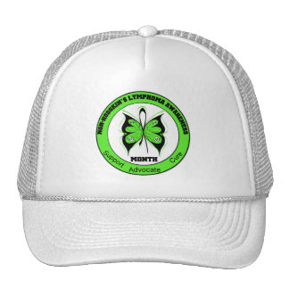 Non Hodgkins Lymphoma Awareness Month Butterfly v3 Mesh Hats
