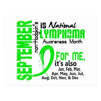 Non-Hodgkin's Lymphoma Awareness Month For Me Postcard