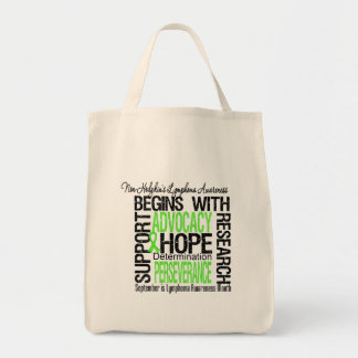 Non Hodgkins Lymphoma Awareness Month Hope Grocery Tote Bag
