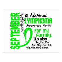 Non-Hodgkin's Lymphoma Awareness Month My Family Postcard