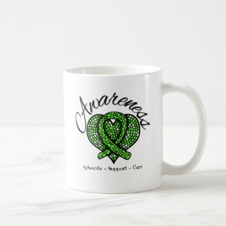 Non-Hodgkin's Lymphoma Awareness Mosaic Heart Coffee Mugs