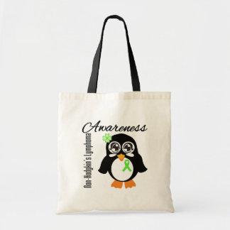 Non-Hodgkin's Lymphoma Awareness Penguin Tote Bags