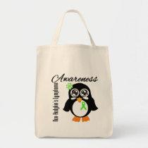 Non-Hodgkin's Lymphoma Awareness Penguin Tote Bag
