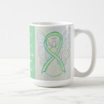 Non-Hodgkins Lymphoma Awareness Ribbon Angel Mug