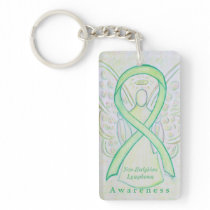 Non-Hodgkins Lymphoma Awareness Ribbon Keychain