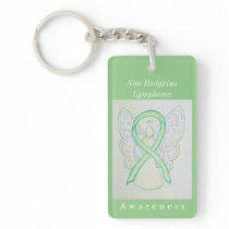Non-Hodgkins Lymphoma Awareness Ribbon Keychain
