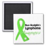 Non-Hodgkins Lymphoma Awareness Ribbon Refrigerator Magnets