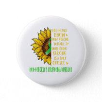 Non-Hodgkin's Lymphoma Awareness Sunflower Button