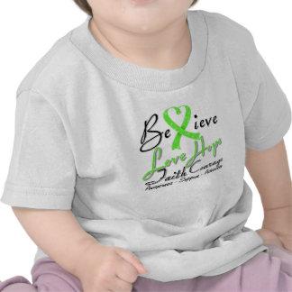 Non-Hodgkins Lymphoma Believe Heart Collage T Shirt