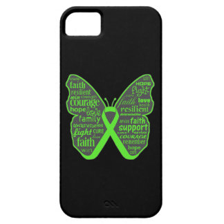 Non-Hodgkins Lymphoma Butterfly Collage of Words iPhone 5 Cover