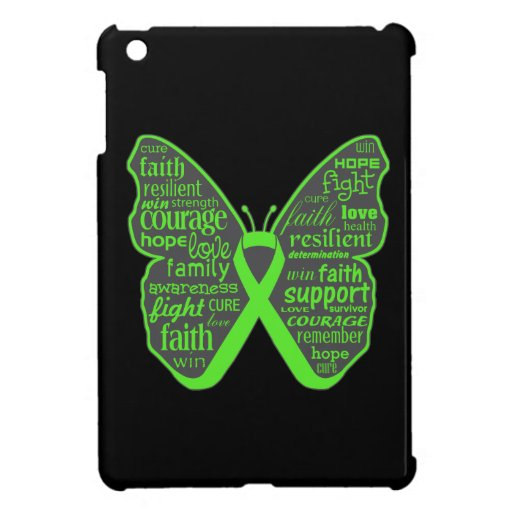 Non-Hodgkins Lymphoma Butterfly Collage of Words iPad Mini Cases