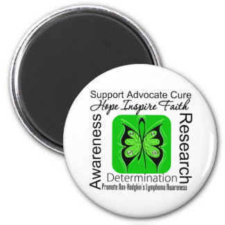 Non-Hodgkins Lymphoma Butterfly Inspirations 2 Inch Round Magnet