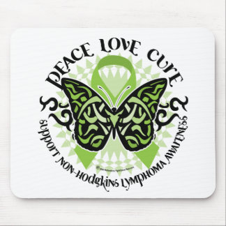 Non-Hodgkins Lymphoma Butterfly Tribal Mouse Pad