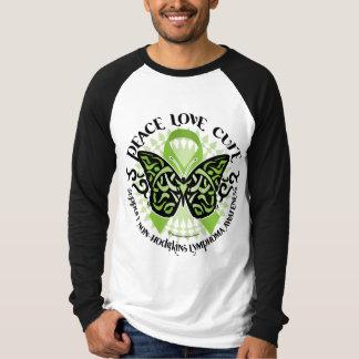 Non-Hodgkins Lymphoma Butterfly Tribal T-Shirt