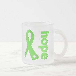 Non-Hodgkins Lymphoma Cancer Hope Ribbon 10 Oz Frosted Glass Coffee Mug